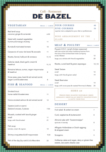 Dinner menu june 2021