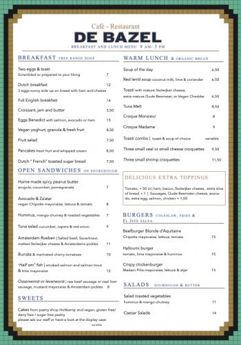 Ontbijt en lunch menu Bazel English juni 2021