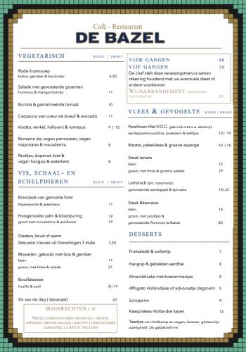 Diner menu juli 2021